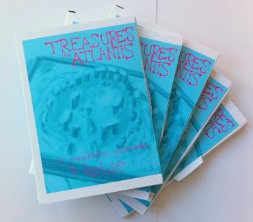 Kelise Franclemont, five printed postcard sets, 'Treasures from Atlantis', 2012, digital drawing and printed postcard.