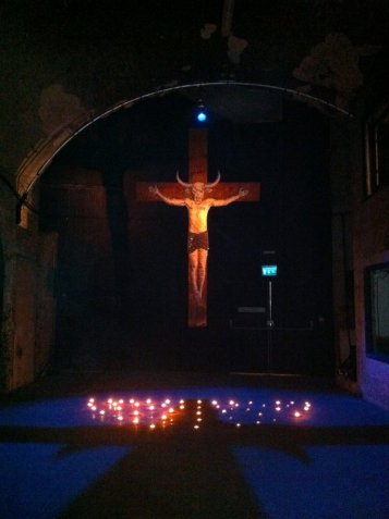 Atma, title unknown, 2011, installation, in 'The Minotaur' at Old Vic Tunnels, Waterloo, London. Photo credit Kelise Franclemont.
