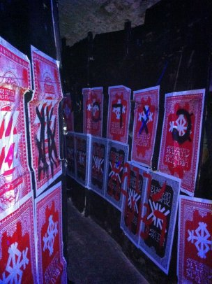 Stanley Donwood, 'Labyrinth', 2011, installation, in 'The Minotaur' at Old Vic Tunnels, Waterloo, London. Photo credit Kelise Franclemont.