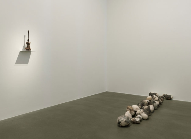 Paul Noble, installation view, in 'Welcome to Nobson', at Gagosian, Britannia Street, London. Image courtesy Gagosian gallery.