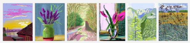 Montage of David Hockney iPad drawings. Image courtesy Google Search results.