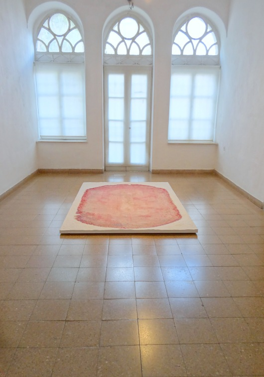 A work by Maya Muchawsky Parnas, at Jerusalem Artists House, West Jerusalem, 6 Oct 2012. Image courtesy Kelise Franclemont.