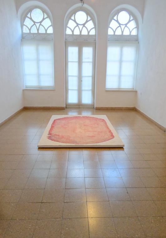 A work by Maya Muchawsky Parnas, at Jerusalem Artists House, West Jerusalem, 6 Oct 2012. Image courtesy Kelise Franclemont.