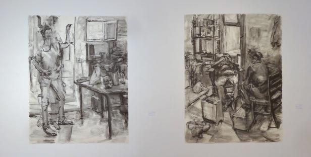 Exhibition in Jerusalem Artists House, Jerusalem. Artist unknown (Hebrew writing). Image courtesy Kelise Franclemont.