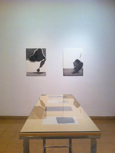 Exhibition in Jerusalem Artists House, Jerusalem. Artist unknown, ink on paper. Image courtesy Kelise Franclemont