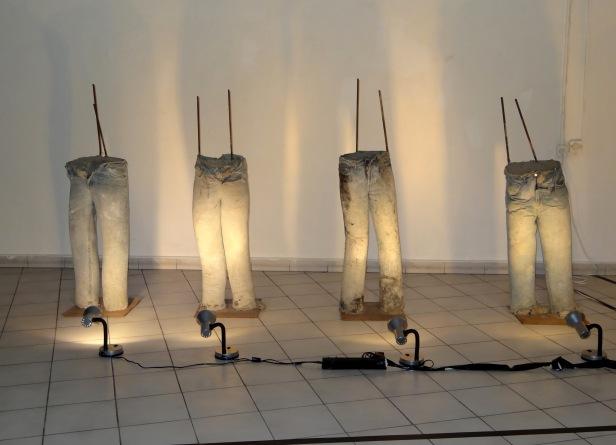 Nasrin Abu Bakir, 'Wall', 2012, installation in Wonderland exhibition, Haifa Chagall Artists House, Haifa, Israel. Image courtesy Kelise Franclemont