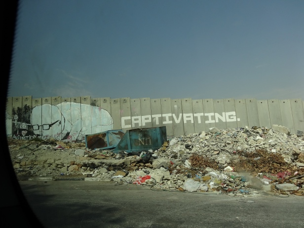 View of The Separation Wall in Beit Sahour, West Bank, Sept 2012. Image courtesy Kelise Franclemont.