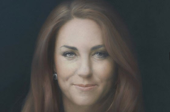 Kate Middleton by artist (2012) as displayed in National Portrait Gallery. Image courtesy of telegraph.co.uk