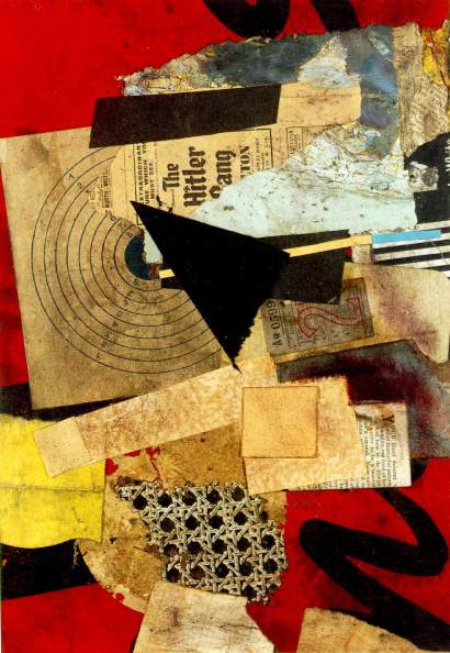 Schwitters, 'Hitler Gang', 1944, collage. Image courtesy wikipaintings.com