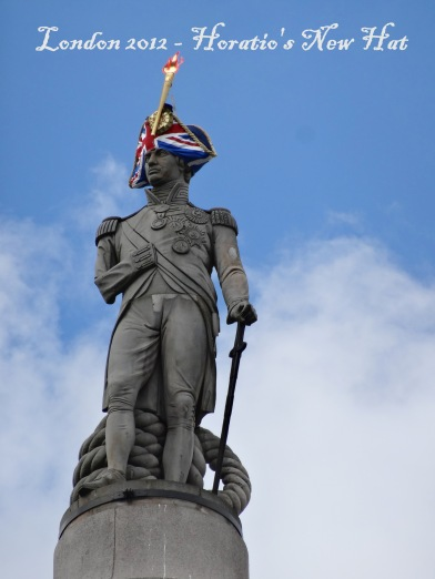 Lord Nelson's Column, as seen in Trafalgar Square during the London 2012 Olympics. Image courtesy Kelise Franclemont