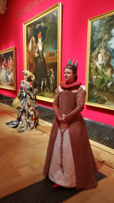 model Kelise (right) as Elisabeth de Valois (1545-1568), costume maker Alexander Connatty, at 'In Fine Style' at Queen's Gallery, Buckingham Palace, 18 May 2013. Image courtesy Thomas Butler.