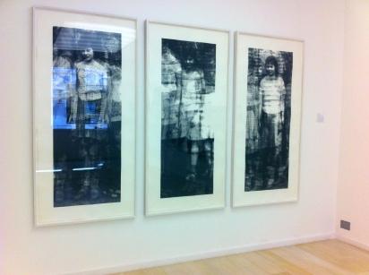 Installation view of Christiane Baumgartner's work, 'Klassenkamerdan', 1999, in 'Conflicted Memory' at Alan Cristea gallery. Image courtesy Kelise Franclemont and Alan Cristea gallery.