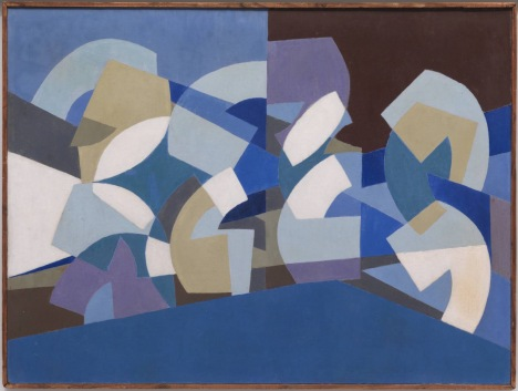 Saloua Raouda Choucair, 'Composition in Blue Module', 1947-51, at Tate Modern, London. Image courtesy www.tate.org.uk/modern