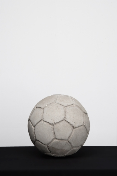 Khaled Jarrar, 'Football', 2012, reconstituted concrete from the Apartheid Wall, in 'Whole in the Wall', at Ayyam Gallery, London. Image courtesy Ayyam Gallery.