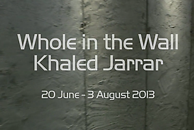 Khaled Jarrar, 'Whole in the Wall' exhibition at Ayyam Gallery, New Bond Street, London. Image courtesy Ayyam Gallery.