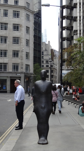 'Parallel Field', Antony Gormley, in 'Sculpture in the City 2013', City of London. Photo courtesy Kelise Franclemont.