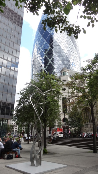 'String Quintet', Shirazeh Houshiary, in 'Sculpture in the City 2013', City of London. Photo courtesy Kelise Franclemont.