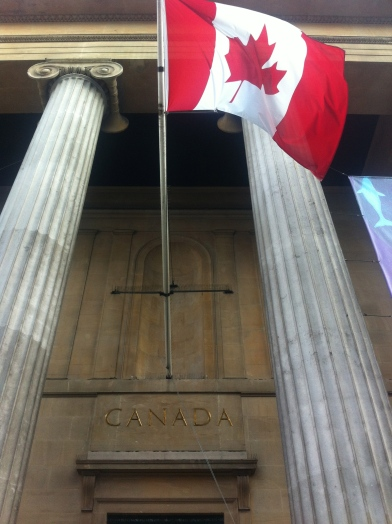 View of the front entrance to Canada House, Trafalgar Square, London. Photo credit Kelise Franclemont.