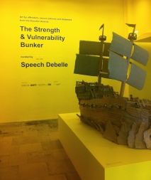 Entry to 'Strength & Vulnerability Bunker' at Southbank Centre, Bankside, London. Photo credit Kelise Franclemont.