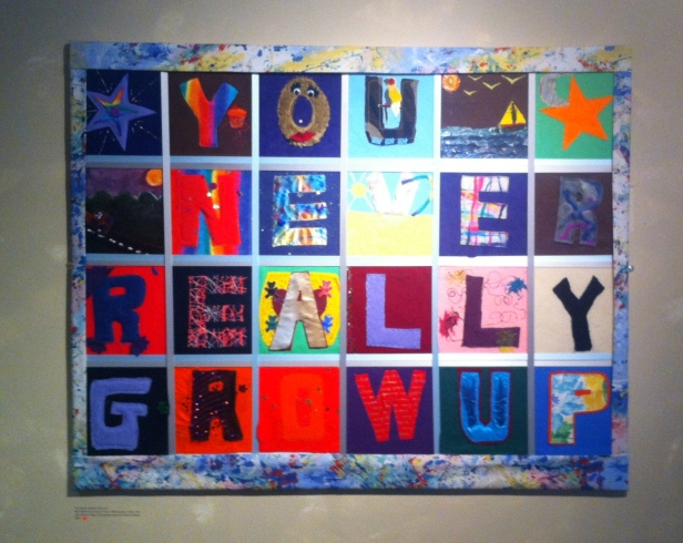'You Never Really Grow Up', Red Bank Community Home, John Drew Under 18s Special Award for Mixed Media, in 'Strength and Vulnerability Bunker' at Southbank Centre, Bankside, London. Photo credit Kelise Franclemont.