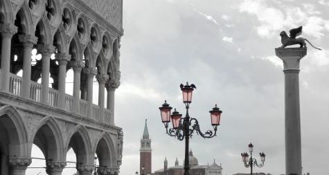 View of Doge's palace (left) in San Marco square.