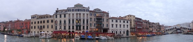 View of the Grand Canal, Venice during the Biennale art fair, October 2013. Photo credit Kelise Franclemont.