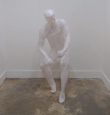 Esperanza Gomez-Carrera, 'Lump of Sugar', 2013, tissue paper and glue, in 'Quantum' at Espacio Gallery, London. Photo credit Kelise Franclemont.