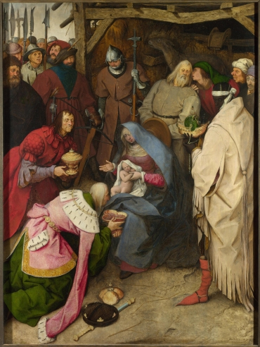 Pieter Breugel, 'Adoration of the Kings', 1564, oil on panel. Image courtesy Commons Wikimedia.org.