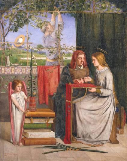 Dante Gabriel Rossetti, 'The Girlhood of Mary Virgin', 1848-9, in 'BP Walk through British art', at Tate Britain. Image courtesy Tate Britain.