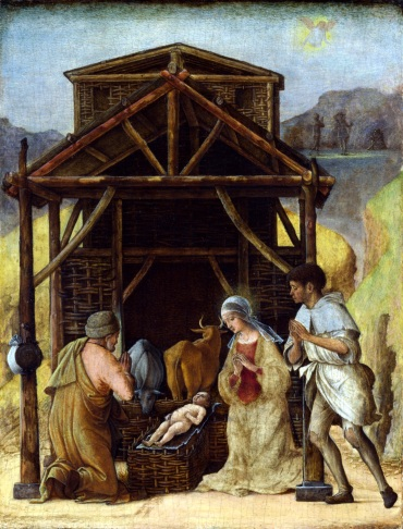 Ercole de Roberti, 'The Adoration of the Shepherds', about 1490, tempera on panel. Image courtesy Commons Wikimedia.org
