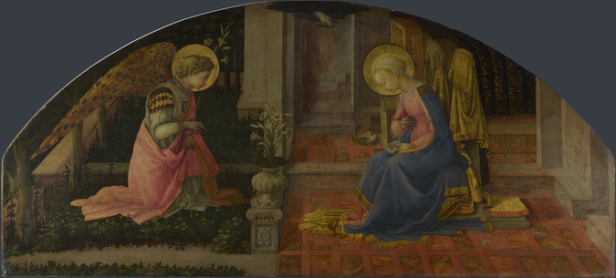 Fra Filippo Lippi, 'The Annunciation', 1450-3, oil painting on wood. Image courtesy National Gallery website.
