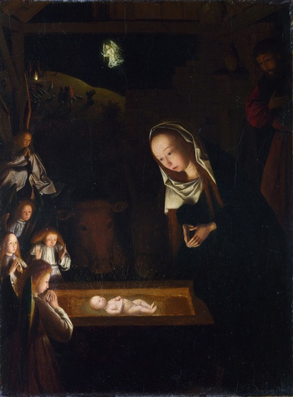 Geertgen tot Sint Jans, 'The Nativity at Night', about 1490, oil painting. Image courtesy Commons Wikimedia.org