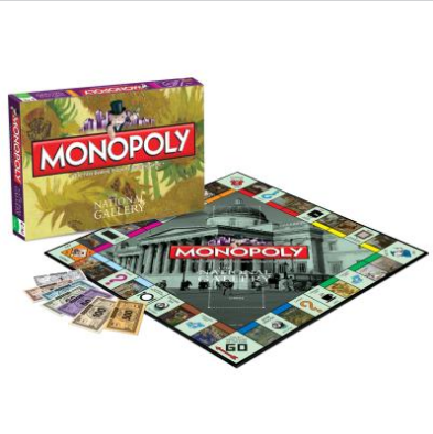 National Gallery Monolopy board game. Image courtesy National Gallery shop.