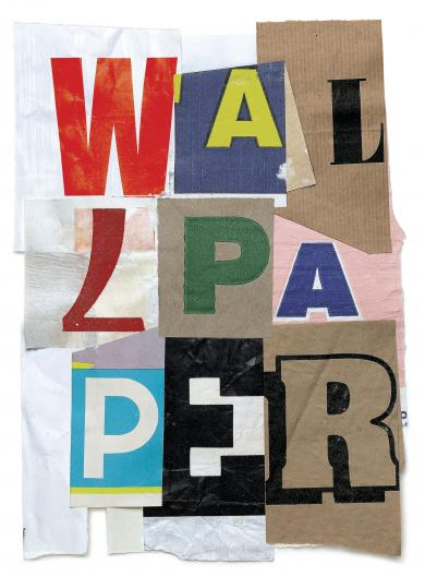 Alan Fletcher, 'W94', 1996, collage, paper and glue for the cover of Wallpaper magazine (December 1996 issue). Image courtesy Wallpaper.com