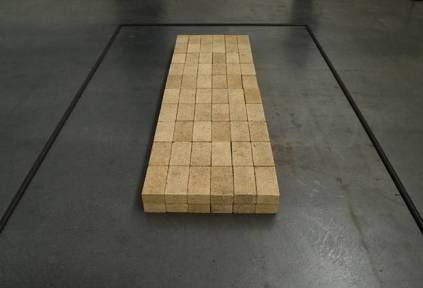 Carl Andre, 'Equivalent VIII', 1966, installation of 120 bricks, stacked in units 2 x 6 x 10.