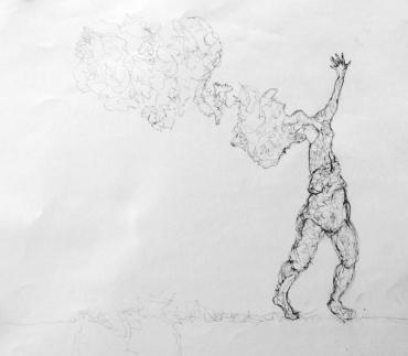 Kelise Franclemont, untitled (ideas are disappearing like smoke), 2012, graphite on paper. Image courtesy Kelise Franclemont.
