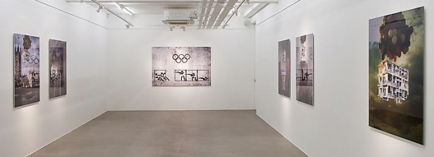 Tammam Azzam, installation view, 'I, the Syrian' at Ayyam Gallery. Photo credit: Susanne Hakuba, courtesy Ayyam Gallery.