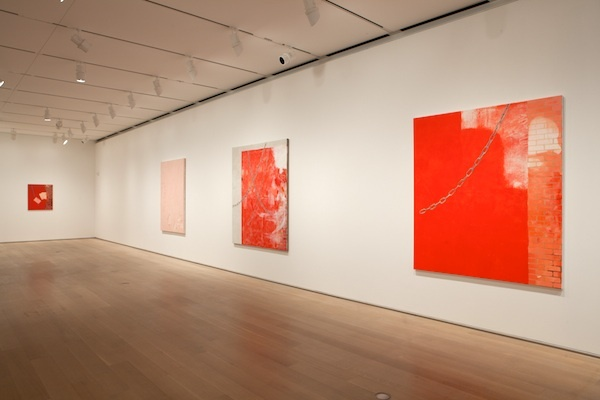 Monika Baer, installation view, 2013, of 'Focus: Monika Baer' at Chicago Art Institute. Image courtesy Chicago Art Institute.