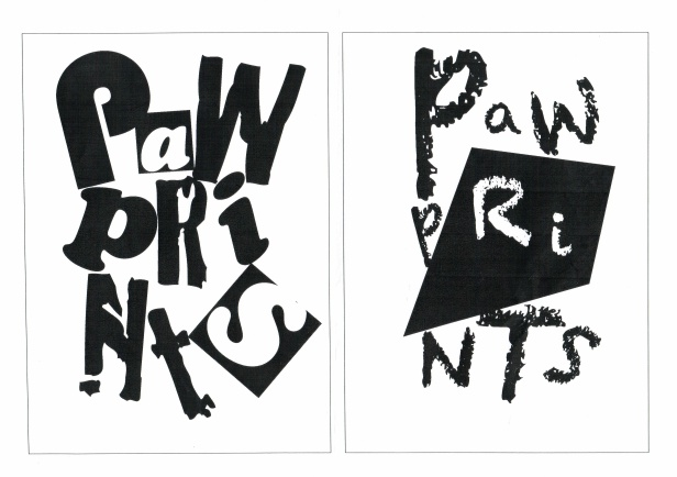 Kelise Franclemont, 'pawprints', 2013, digital media (InDesign). Image courtesy Kelise Franclemont.