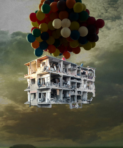 Tammam Azzam, from the series 'Bon Voyage', 2013, C-print diasec mounting, in 'I, the Syrian' at Ayyam Gallery. Photo credit: Susanne Hakuba, courtesy Ayyam Gallery.