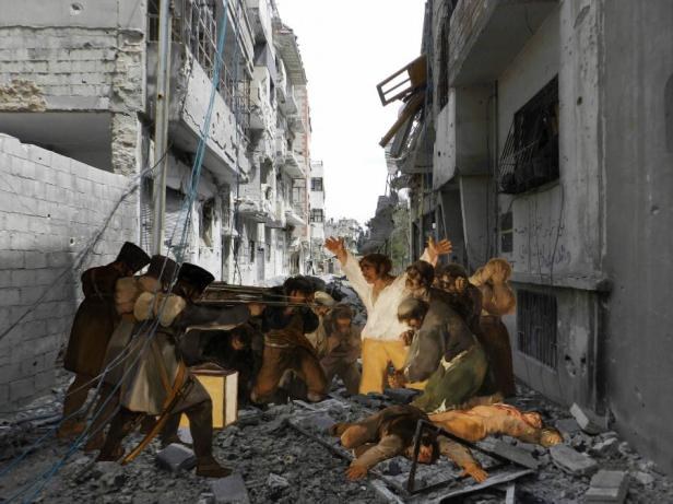 Tammam Azzam, 'Goya', 2013, C-print diasec mounting in 'I, the Syrian' at Ayyam Gallery. Image courtesy Ayyam Gallery.