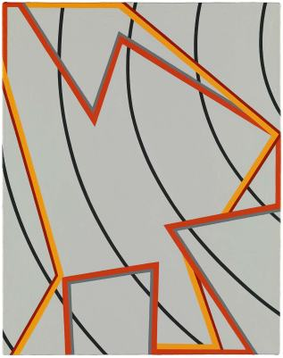 Tomma Abts, 'Jeels', 2012, oil on canvas, in 'Painting Now' at Tate Britain, London. Image courtesy artfund.org
