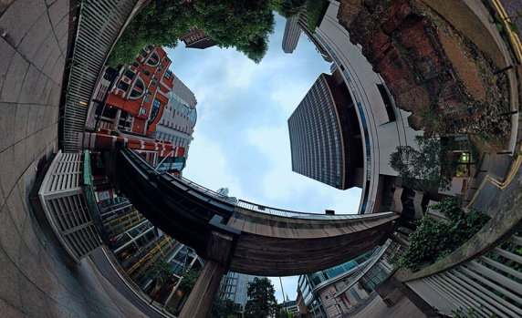 Polar panoramic photo of London Wall by Will Pearson on www.willpearson.co.uk