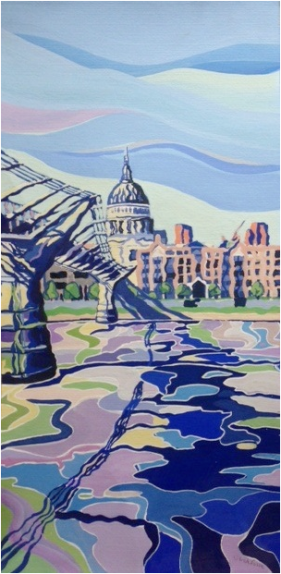 Sarah Fosse, view of St Paul's Cathedral and Millennium footbridge. Image courtesy the artist.