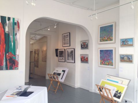 Installation view of 'Spring Showcase 2014' by Caiger Contemporary Art, at The Gallery on the Corner, Battersea, London. Image courtesy Caiger Contemporary Art.
