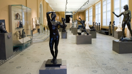 Room 21 at the V&A containing bronzes and marbles by August Rodin. Image courtesy vam.ac.uk