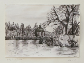 Kelise Franclemont, 'The bandstand at Clapham Common', 2013, ink on paper.