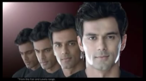 Screenshot from commercial advert for 'Max Fairness for Men' by Fair & Lovely.