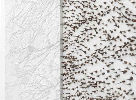 Giuseppe Penone, 'Pelle di marmo e spne d'acacia - Marta', 2006, Carrara marble, canvas, acrylic, glass microspheres and acacia thorns, in 'Circling' at Gagosian, London. Image courtesy Gagosian.com. Photo credit Mike Bruce.