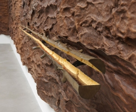 Giuseppe Penone, 'Scrigno' (detail), 2007, leather, bronze, gold, and resin, in 'Circling' at Gagosian, London. Image courtesy Gagosian.com. Photo credit Mike Bruce.